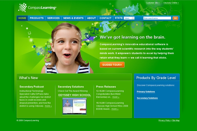 Screenshot on Compass Learning