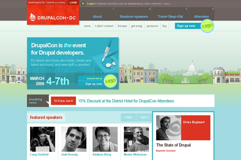 Screenshot on Drupalcon