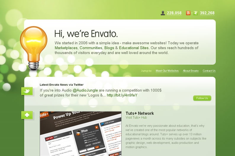 Screenshot on Envanto