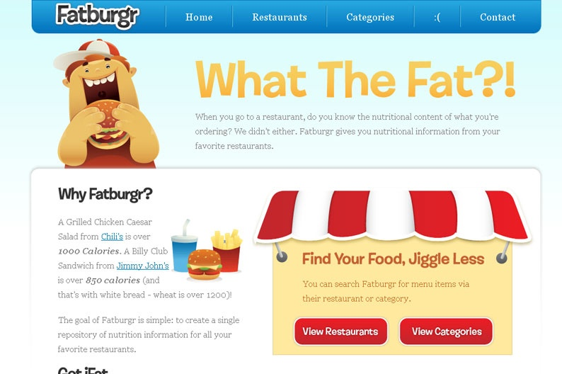 Screenshot on Fatburgr
