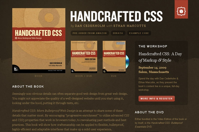 Screenshot on Handcrafted CSS
