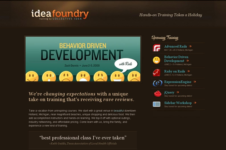 Screenshot on Idea Foundry