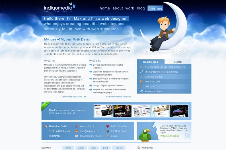 Screenshot on Indiqo Media