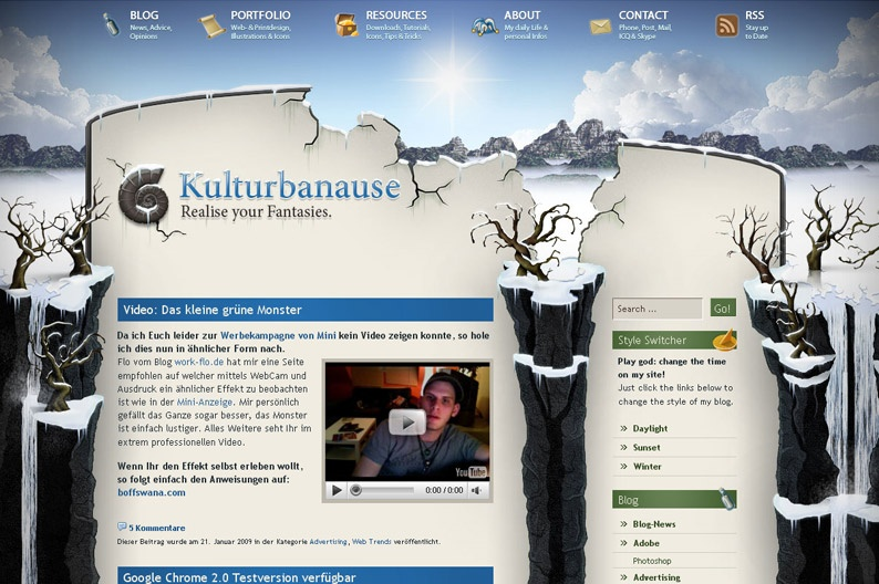 Screenshot on Kulturbanause