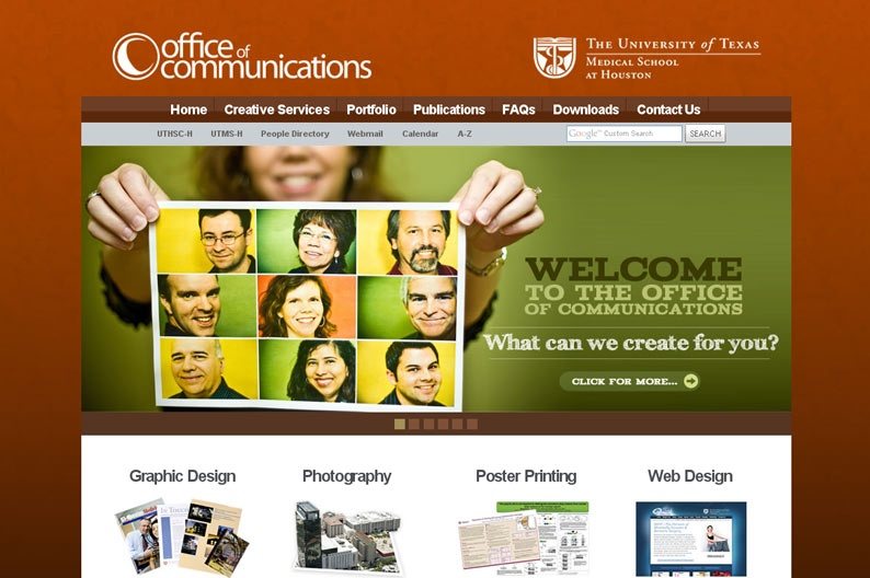 Screenshot on Office of Communications