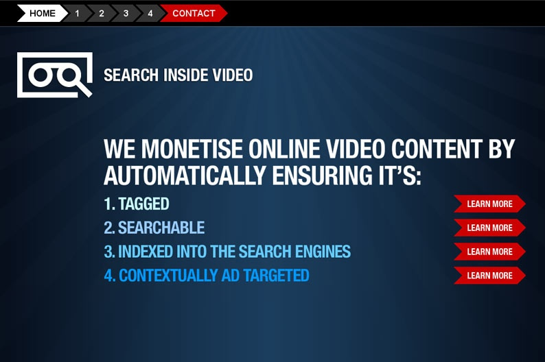 Screentshot on http://www.searchinsidevideo.com