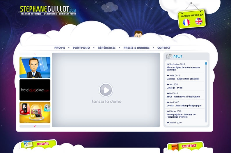 Screenshot on Stephane Guillot