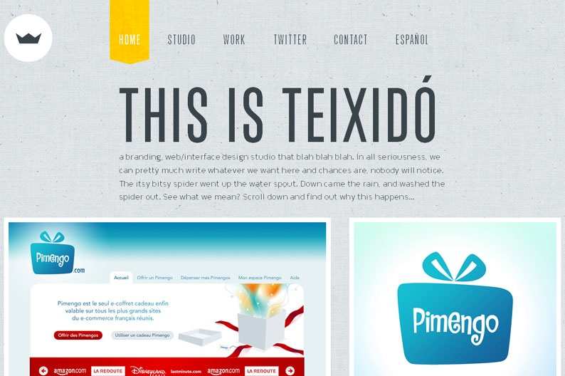Screenshot on Teixido