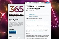 365 Days of Astronomy web design inspiration