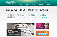 Ambassadors for Life web design inspiration