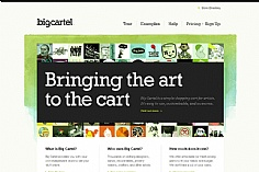 Bigcartel web design inspiration