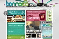 Bonnaroo web design inspiration