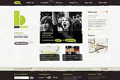Bush Theatre web design inspiration