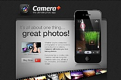 Camera plus web design inspiration