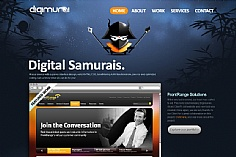 Digimurai web design inspiration