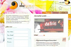 Ebu Gogo web design inspiration