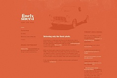 Finely Sliced web design inspiration