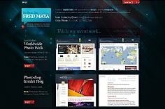 Fred Maya web design inspiration