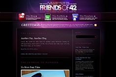 Friends of 42 web design inspiration