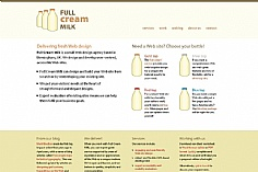 Full Cream Milk web design inspiration