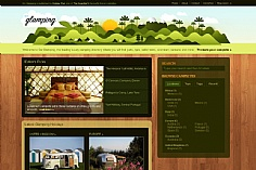 Go Glamping web design inspiration