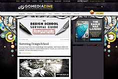 GoMediaZine web design inspiration