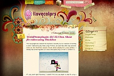 I Love Colors web design inspiration