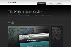 Jason Gaylor web design inspiration