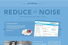 Jeremy Church web design inspiration
