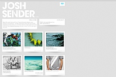 Josh Sender web design inspiration