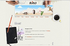 Kinoz web design inspiration