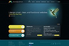 Maquina web design inspiration