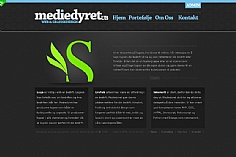 Mediedyret web design inspiration