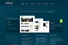 Nclud web design inspiration