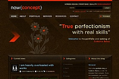 New Concept web design inspiration