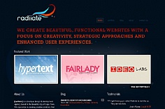 Radiiate web design inspiration