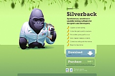 Silverback web design inspiration