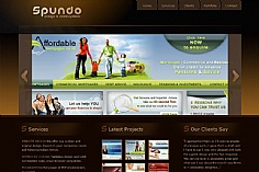 Spundo web design inspiration