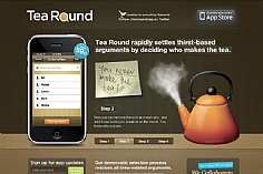 Tea Round App web design inspiration