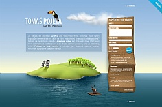 Tomas Pojeta web design inspiration