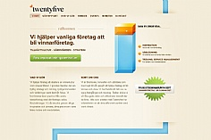 TwentyFive web design inspiration