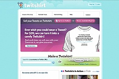 Twitshirt web design inspiration