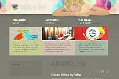 Veerle's blog web design inspiration