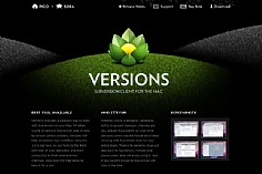 Versions web design inspiration