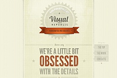 Visual Republic web design inspiration