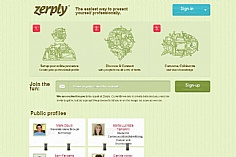 Zerply web design inspiration
