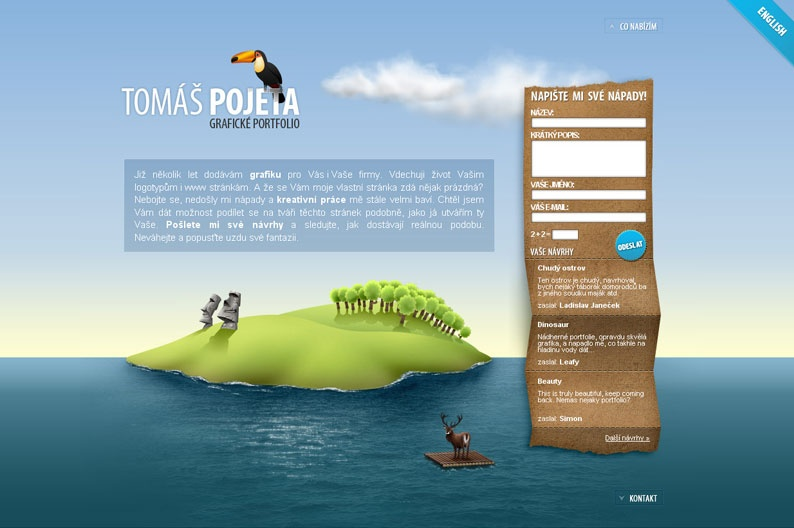 Screenshot on Tomas Pojeta
