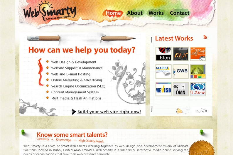 Screenshot on Web Smarty